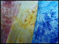 Fulares de seda natural pintados a mano 45x1,40 cm (12 €)